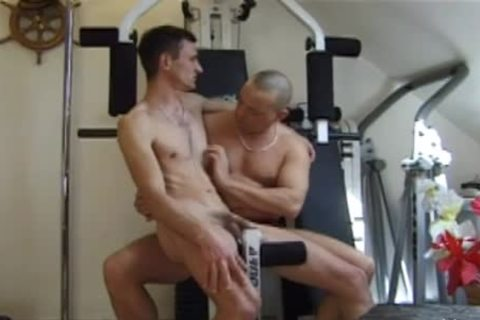 excited dudes Have A wicked fuck At The Gym