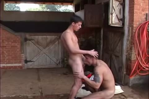 slim guy pokes meaty Cowboy