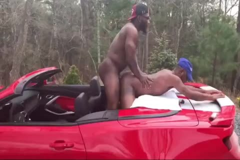 black males nailing raw In Public
