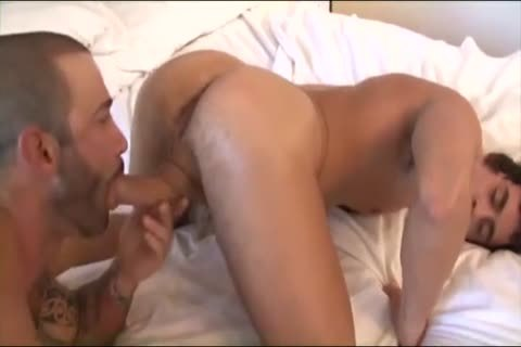 lad receives Sandwiched between Hazing studs
