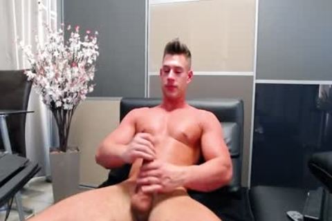 Flirt4Free - Aiden Kay - stunning Blue Eyed College chap Jerks His biggest dick