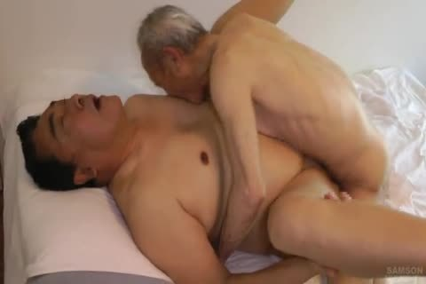 Japanese fat Daddy Sex With big knob grandpa