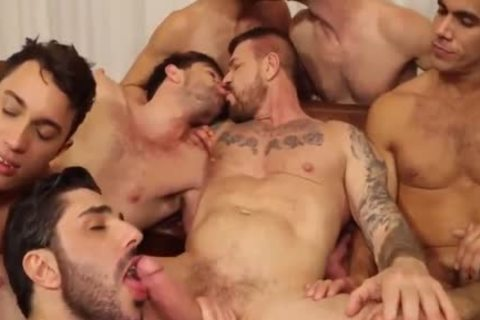 ROCCO fuckfest-10 man IN ACTION,suck,pound & cum-WOW!