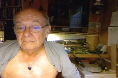 70 Yo chap On Web web camera horny Face