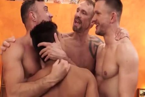 gay Shoplifter threesome irrumation-stimulation In Backroom