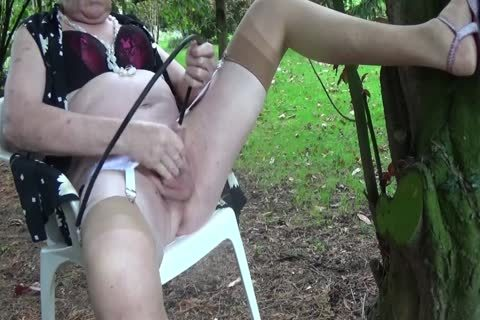 tranny Outdoor Transvestite underware Nylon Sounding Urethra