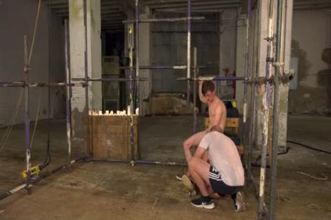 bound twink Sub Is Used For Candle And Wax Tormenting