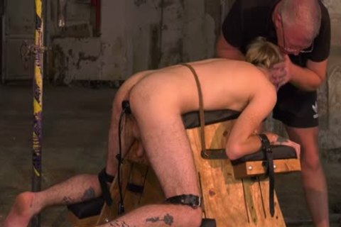 pliant juvenile homosexual Submits To taskmaster For Clamp Torturing