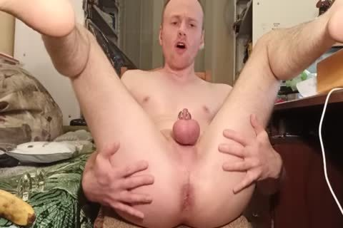 LanaTuls - butt plowing And Stretching With Banana And sextoy