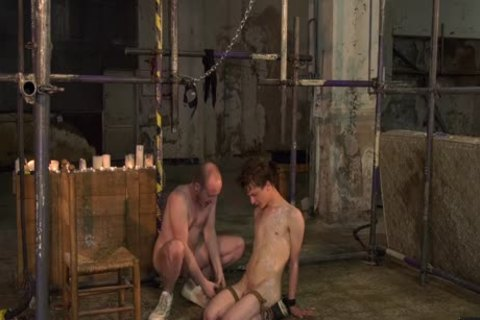 Blindfolded twink drilled Hard By slavemaster Male master