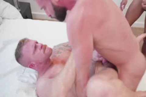 4 Hunks raw Manly slut
