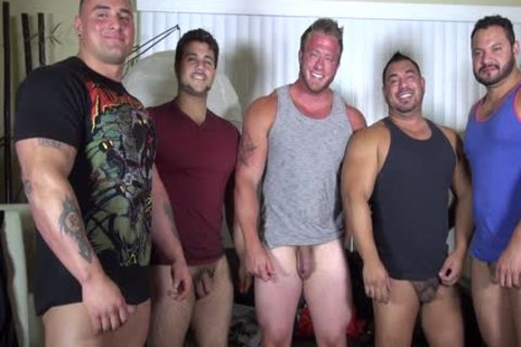in nature's garb Party @ LATINO Muscle Bear abode - non-professional fun W/ Aaron Bruiser