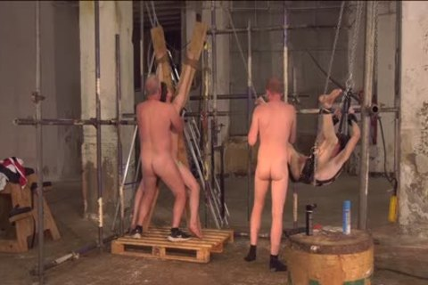 Sub twinks Alex Faux And Avery Monroe bdsm hammered By Masters