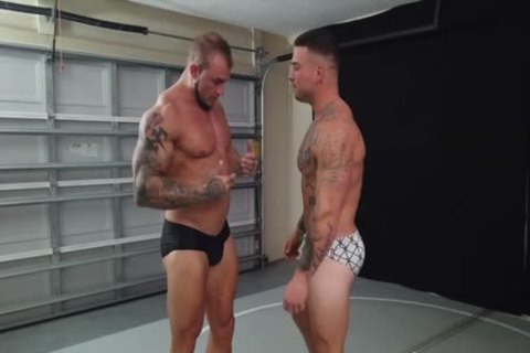 Tattooed Muscle studs Wrestling