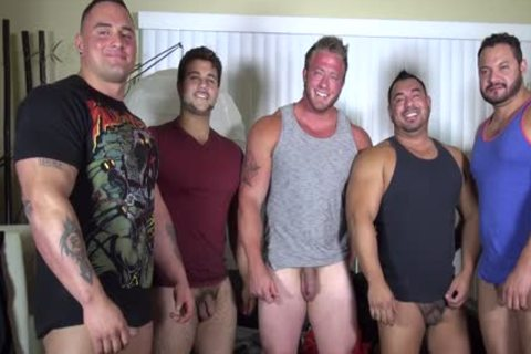 In Nature's Garb Party @ LATINO Muscle Bear abode - amateur fun W/ Aaron Bruiser