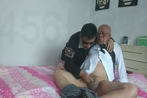 young Chinese Sucks & bangs His grandpa friend