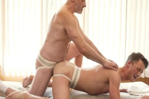 Silver Daddy Massages Young boyfrend