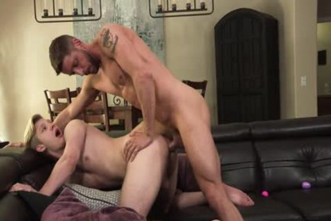 hairy Muscle dad nails tight wazoo Stepson