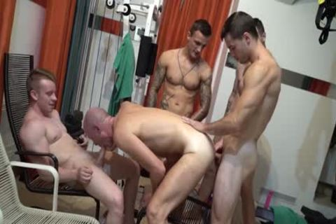 Walter gets drilled Hard By Four juvenile twinks