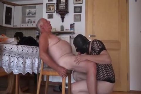 Super pleasant grand-dad And Masked Unusual guy suck And plow On