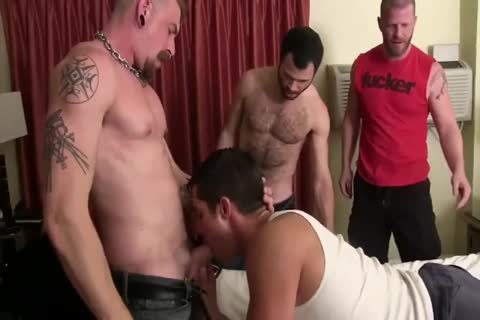 Three lustful homosexual guys With large ramrods Use lustful homosexual bare butthole - GayTV