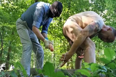 Real Geman amateur deep fake penis And Fist Sex In The Wood