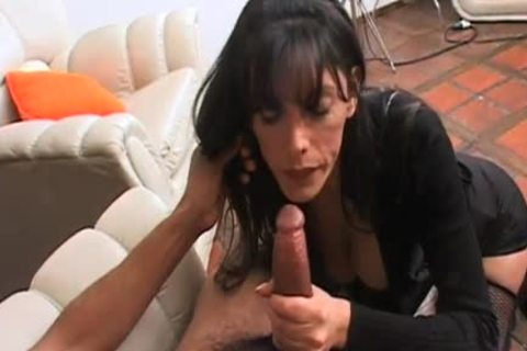 smutty ladyboy acquires a milky load on her gigantic love muffins